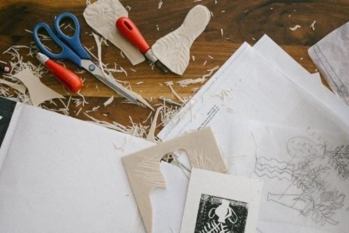 Artwork being created