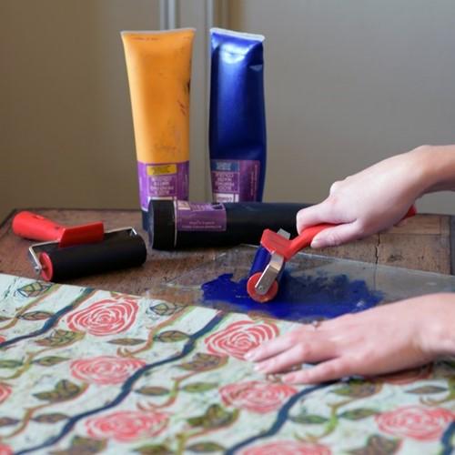Cutting fabric, making art